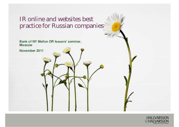 Ir online and websites best practice b
