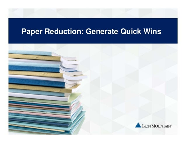 paper reduction The paperwork reduction act mandates that all federal government agencies receive approval from omb—in the form of a control number—before promulgating a paper form, website, survey or electronic submission that will impose an information collection burden on the general public.