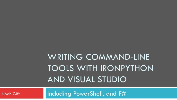 PyCon 2011:  IronPython Command Line
