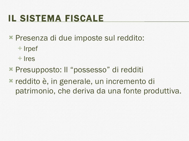 Contabilità e Fiscale - Modulo 3 - Irpef ires irap