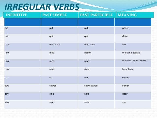 Irregular Verbs 1
