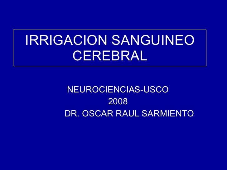 irrigacion del encefalo