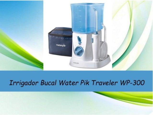 El Irrigador Waterpik® Traveler WP-300 es el irrigador más compacto de la gama de sobremesa. Elimina de forma eficaz el bi...