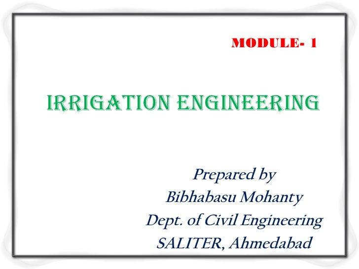 Irrigation engineering m1