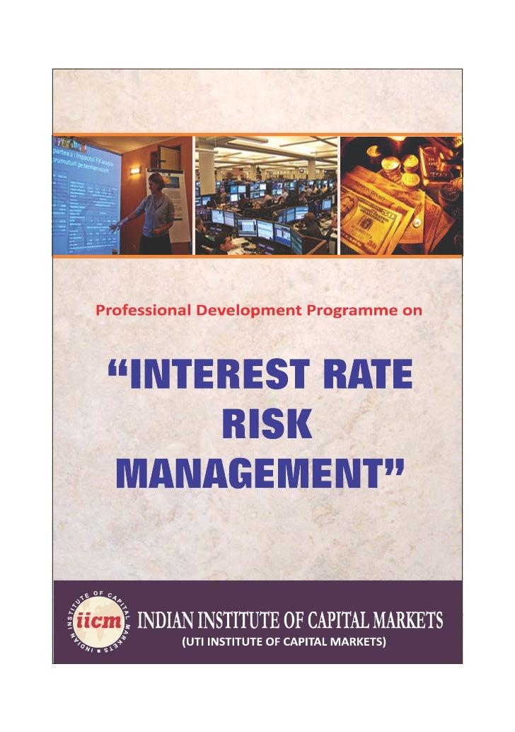 Programme on Interest Rate Risk Management