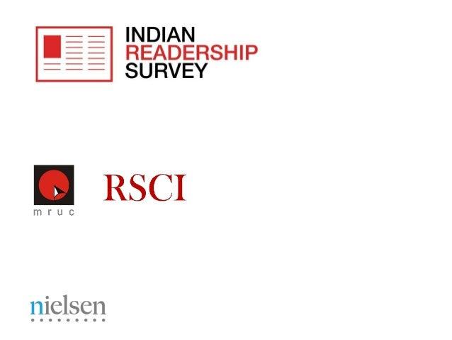 Indian Readership Survey  2013 Topline Findings