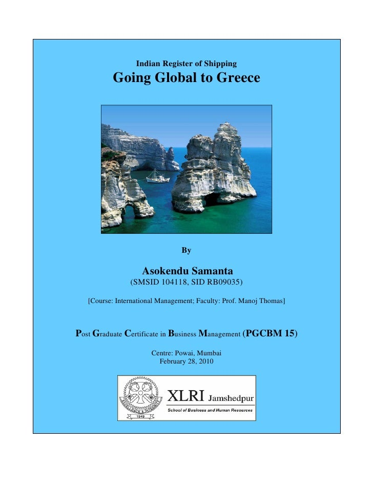 Indian Register of Shipping : Going Global to Greece