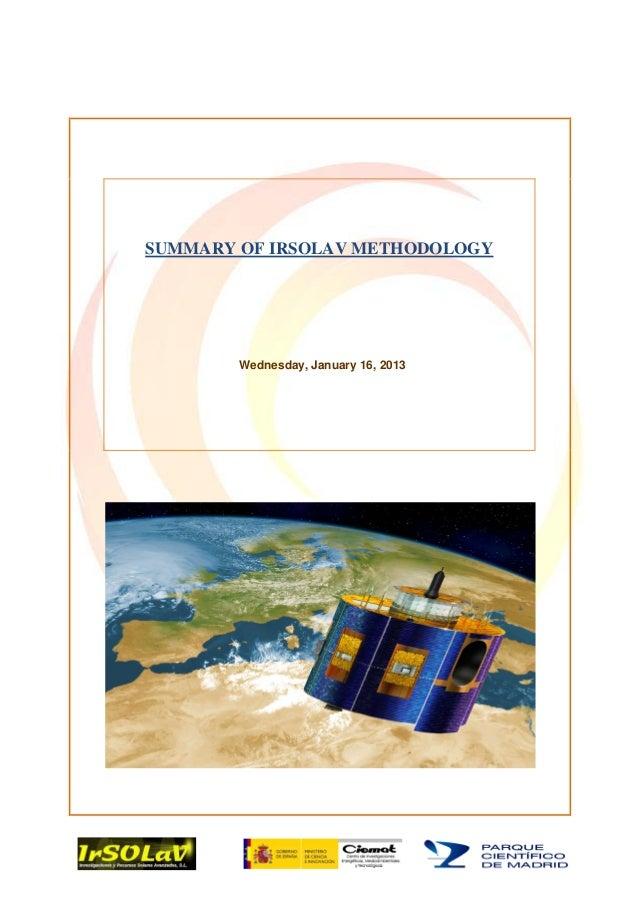 Irsolav Methodology 2013