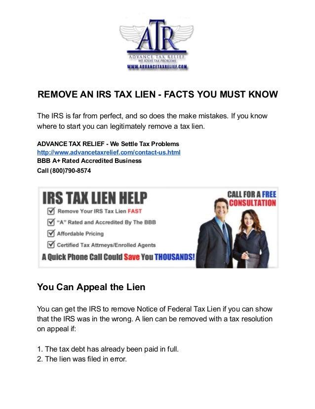 Understanding a Federal Tax Lien  Internal Revenue Service