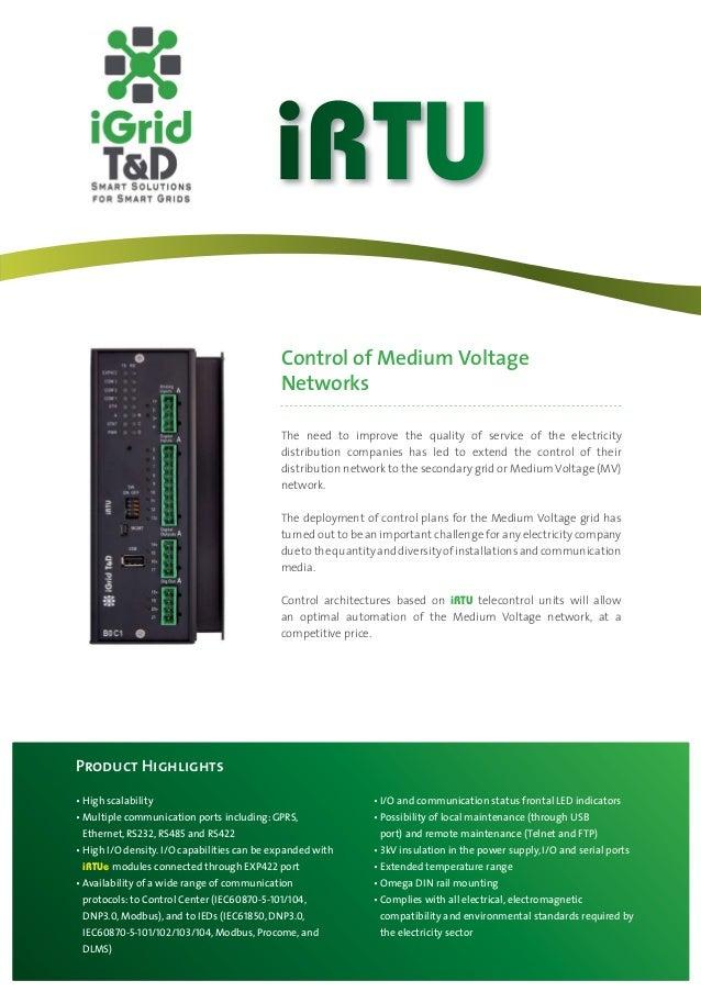 iRTU: RTU for control of medium voltage networks