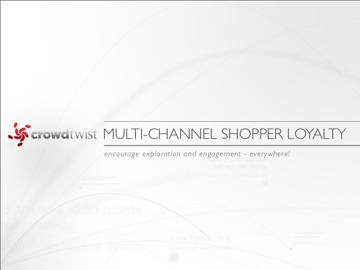 MULTI-CHANNEL SHOPPER LOYALTYencourage exploration and engagement - ever ywhere!