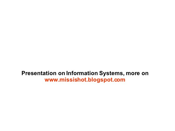 Information Systems Intro