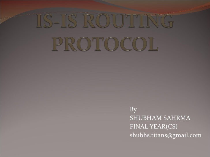 Is Is Routing Protocol