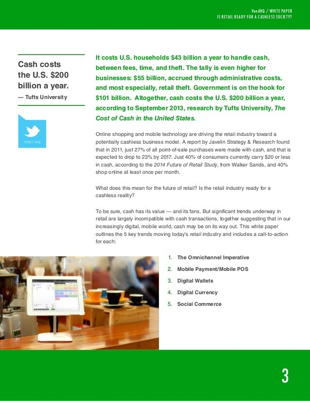 cashless society research paper