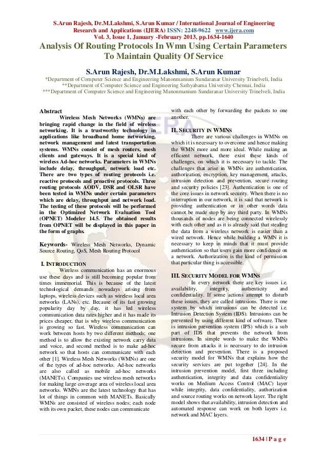 S.Arun Rajesh, Dr.M.Lakshmi, S.Arun Kumar / International Journal of Engineering             Research and Applications (IJ...