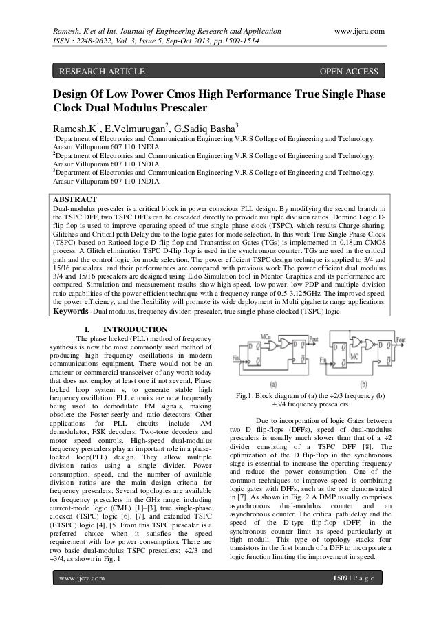 Ramesh. K et al Int. Journal of Engineering Research and Application ISSN : 2248-9622, Vol. 3, Issue 5, Sep-Oct 2013, pp.1...