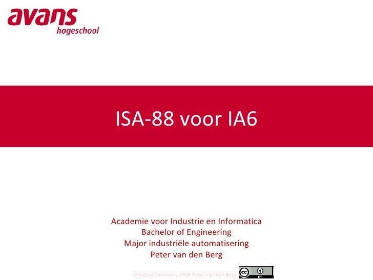 ISA-88 voor IA6