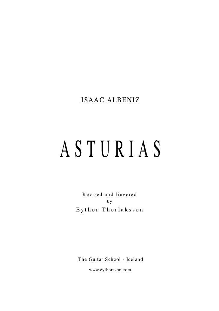 Isaac albeniz-asturias