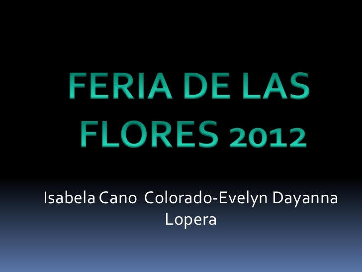 Isabela Cano Colorado-Evelyn Dayanna               Lopera