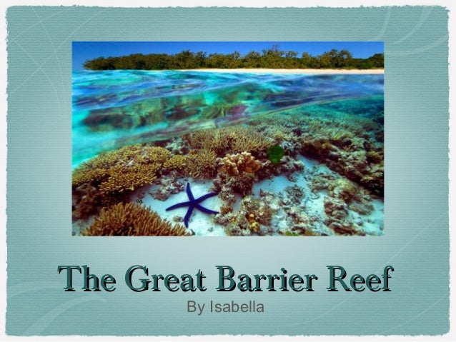 The Great Barrier Reef By Isabella