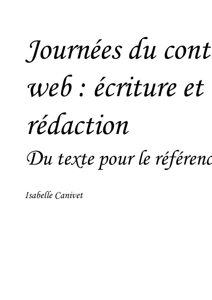 Du texte pour le référencement naturel Isabelle Canivet