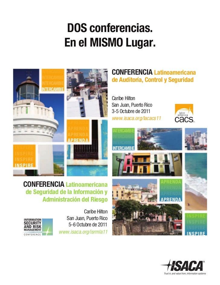 DoS conferencias.                             en el MiSMo Lugar.               inTerCaMBie                        Conferen...