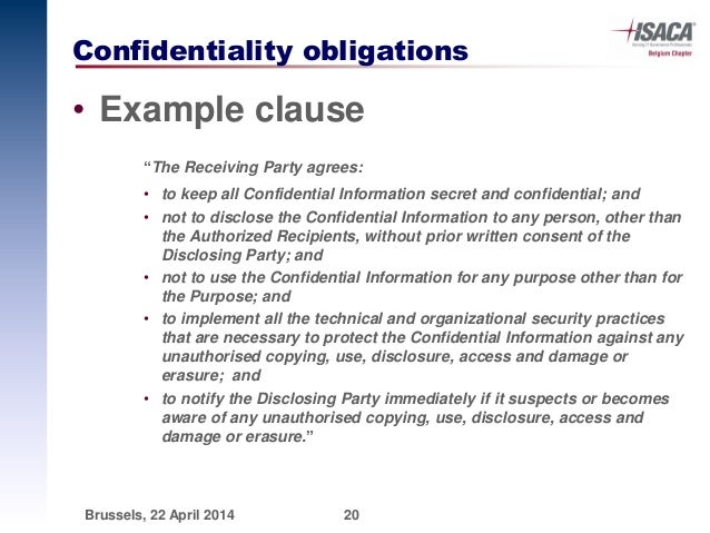 Confidentiality Clause In Agreement  Files From Users