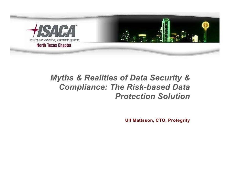 ISACA Dallas Texas 2010 - Ulf Mattsson