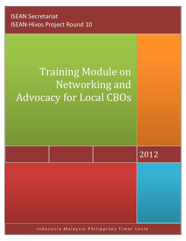 Isaean 2012 cbo training module on networking and advocacy