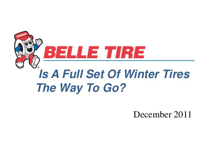 Is A Full Set of Winter Tires The Way To Go?