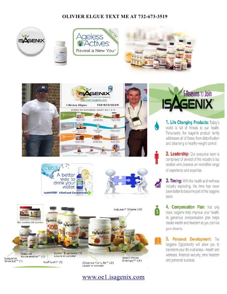 OLIVIER ELGUE TEXT ME AT 732-673-3519            www.oe1.isagenix.com