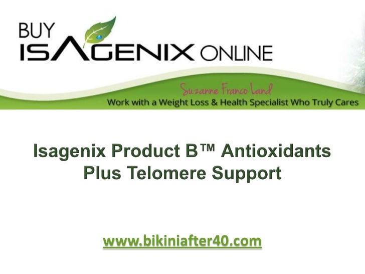 Isagenix product b™ antioxidants plus telomere support
