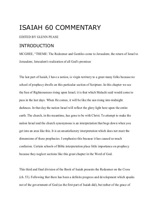 """book of prophet isaiah essay Ets, atlanta 2010 1 """"the prophet jeremiah as theological symbol  in the book of jeremiah"""" gary e yates, phd introduction  timothy polk has noted, """"nothing."""
