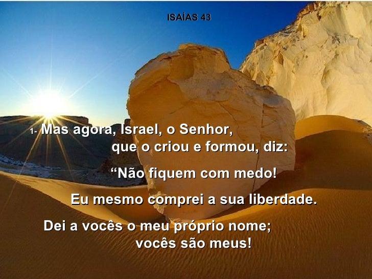 Isaias 43 1-5 Isaías 43 1 Mas Agora