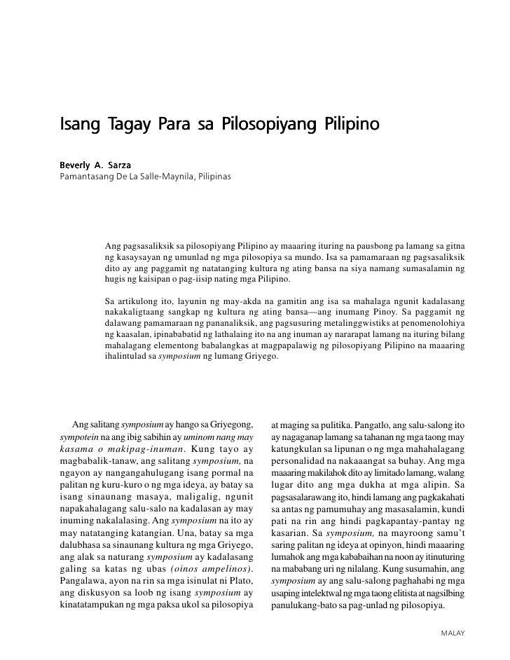 ISANG TAGAY PARA SA PILOSOPIYANG PILIPINO       51     Isang Tagay Para sa Pilosopiyang Pilipino       Tagay Para  Beverly...