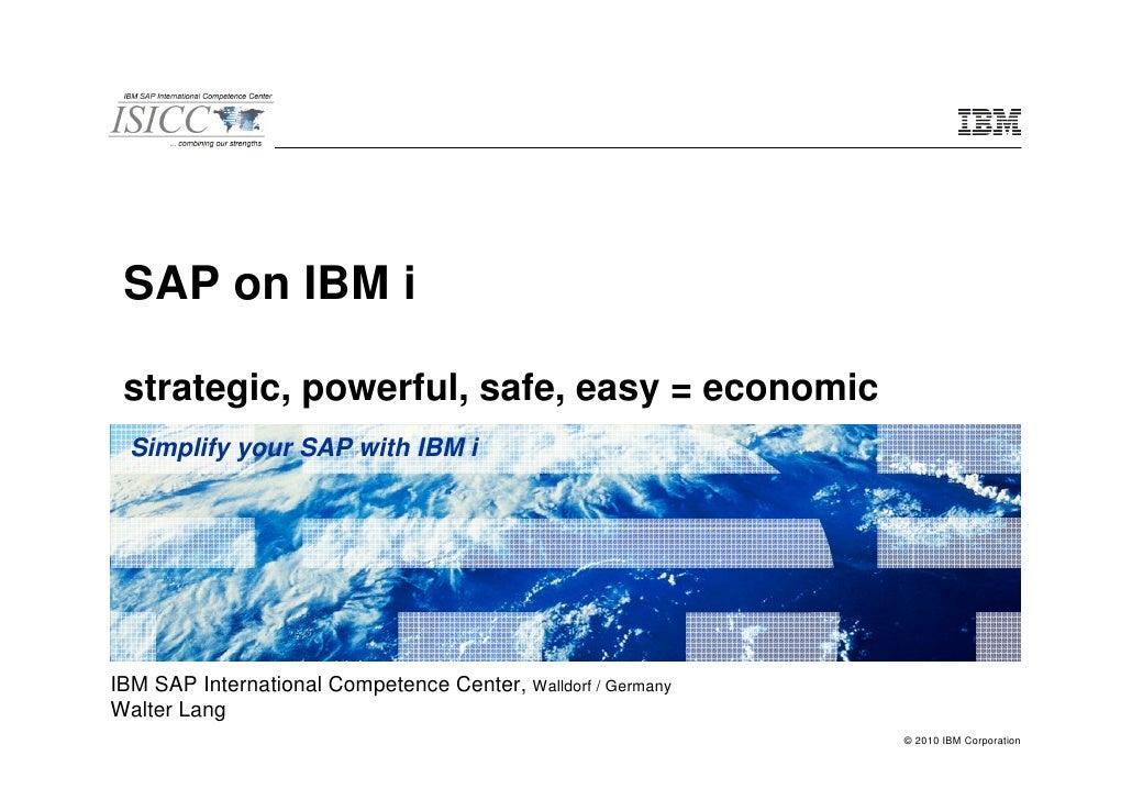 SAP and IBM I
