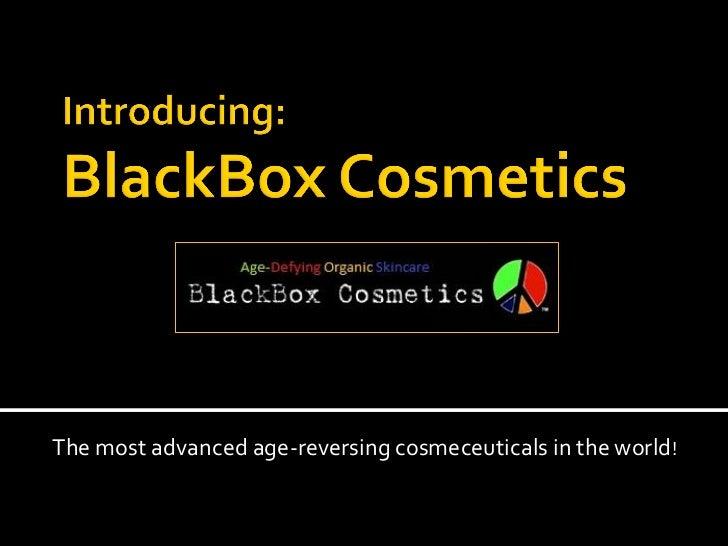 BlackBox Cosmetics Age-Reversing Skincare