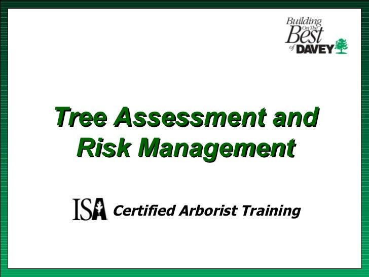 Isa training tree risk assessment & cabling bracing
