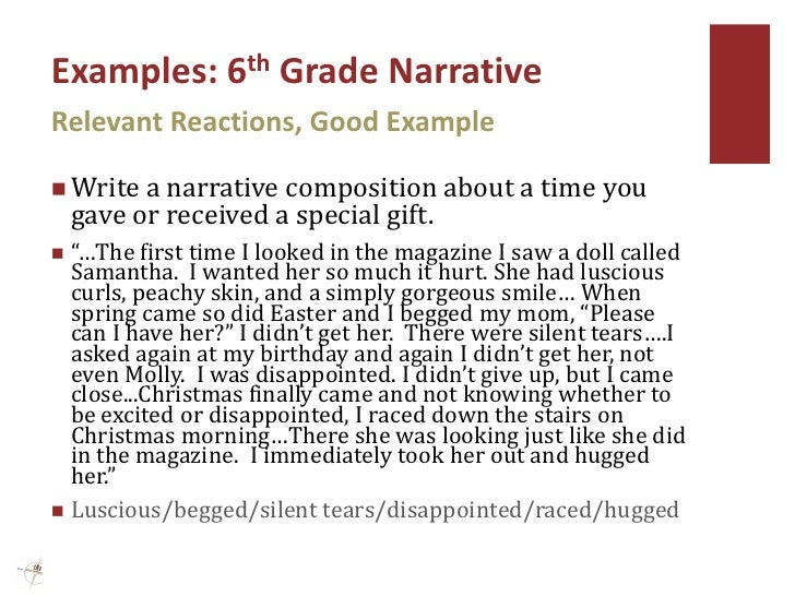 narrative essay topics for grade 6