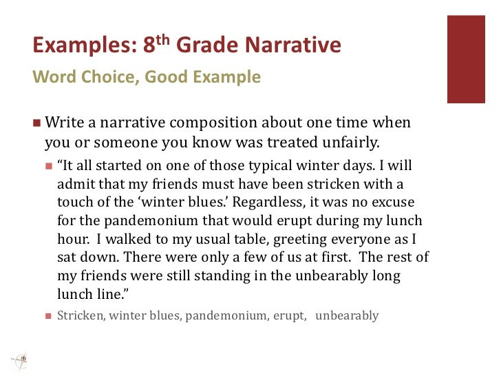 personal narrative examples 10th grade