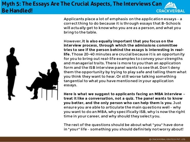 Essay topics for mba interview