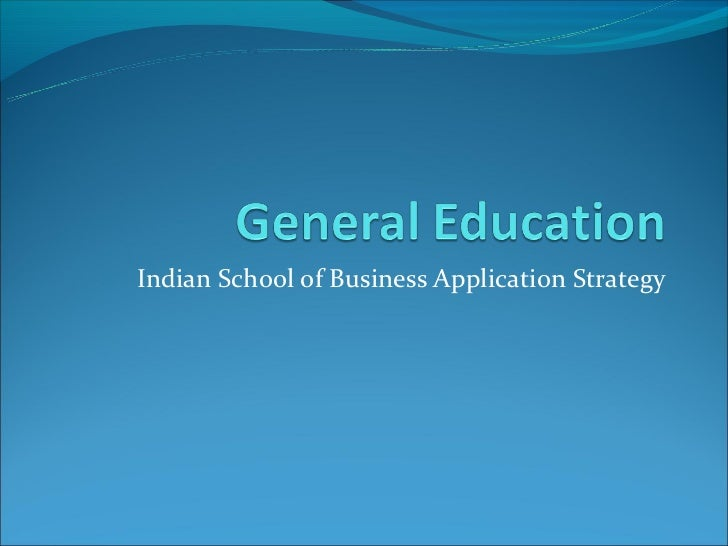 Indian School of Business Application Strategy