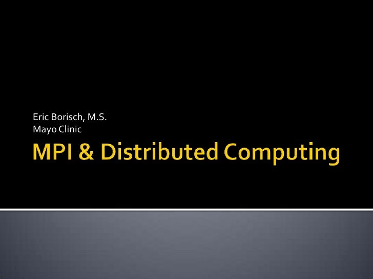 ISBI MPI Tutorial