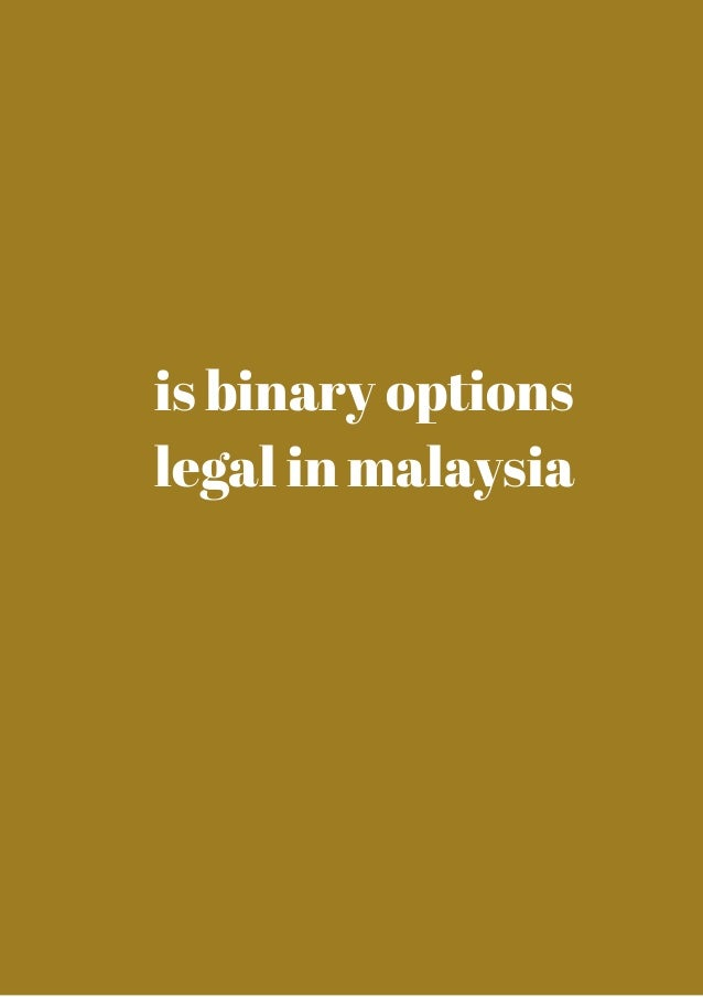 Is binary options legal in usa make money on binary options