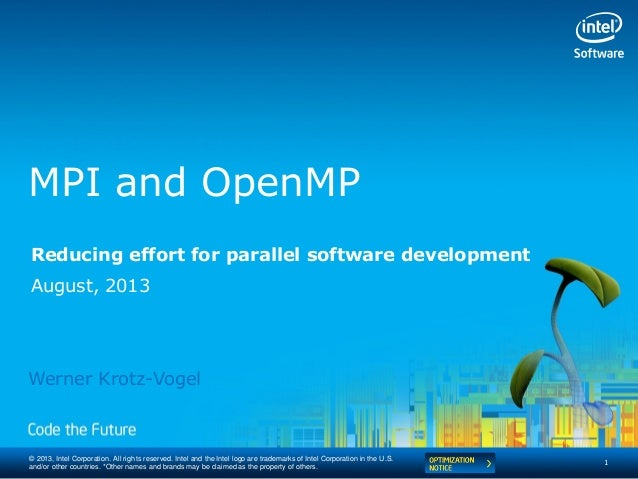 Intel® MPI Library e OpenMP* - Intel Software Conference 2013