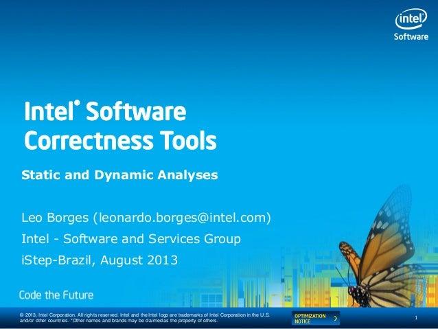 Ferramentas de Desenvolvimento Intel® (Intel® Inspector) - Intel Software Conference 2013
