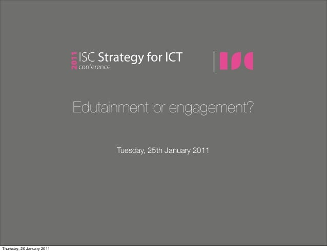 ISC 2011 - Strategy for ICT Conference