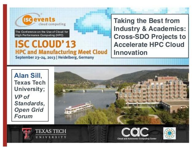 ISC Cloud13 Sill - Crossing organizational boundaries in cloud computing