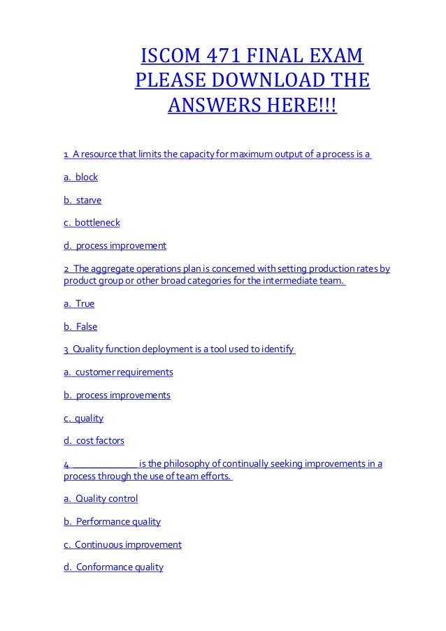 Iscom 471 final exam