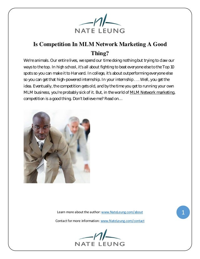 Is competition in mlm network marketing a good thing